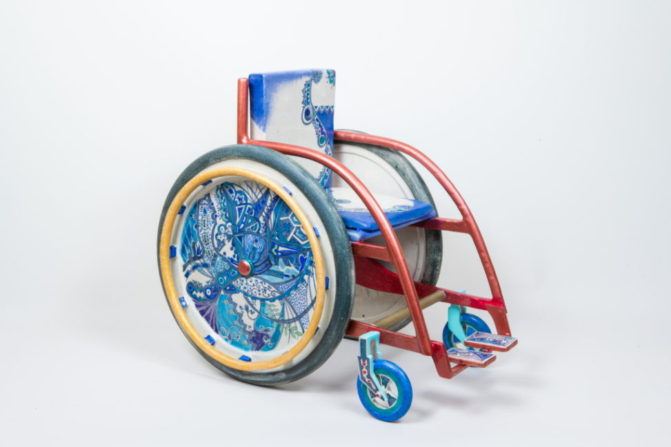 Enjoying wheelchair life